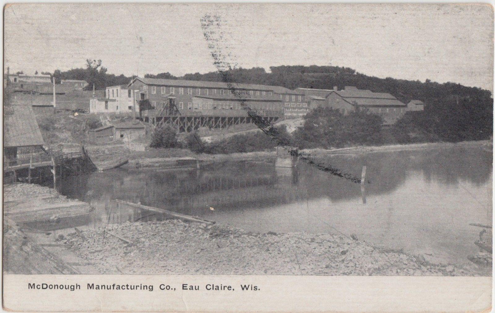 1910 - North Bank, Eau Claire River. Credit Our Old Town Eau Claire