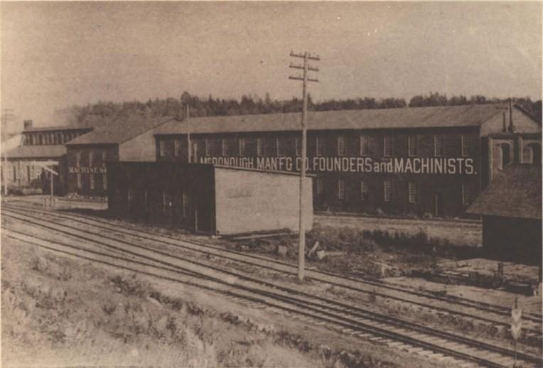 Old McDonough factory from railroad